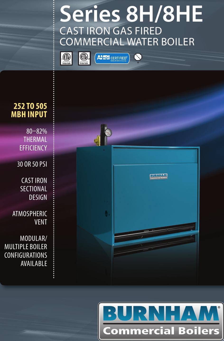 Burnham Series 8H 8He Boiler Brochure