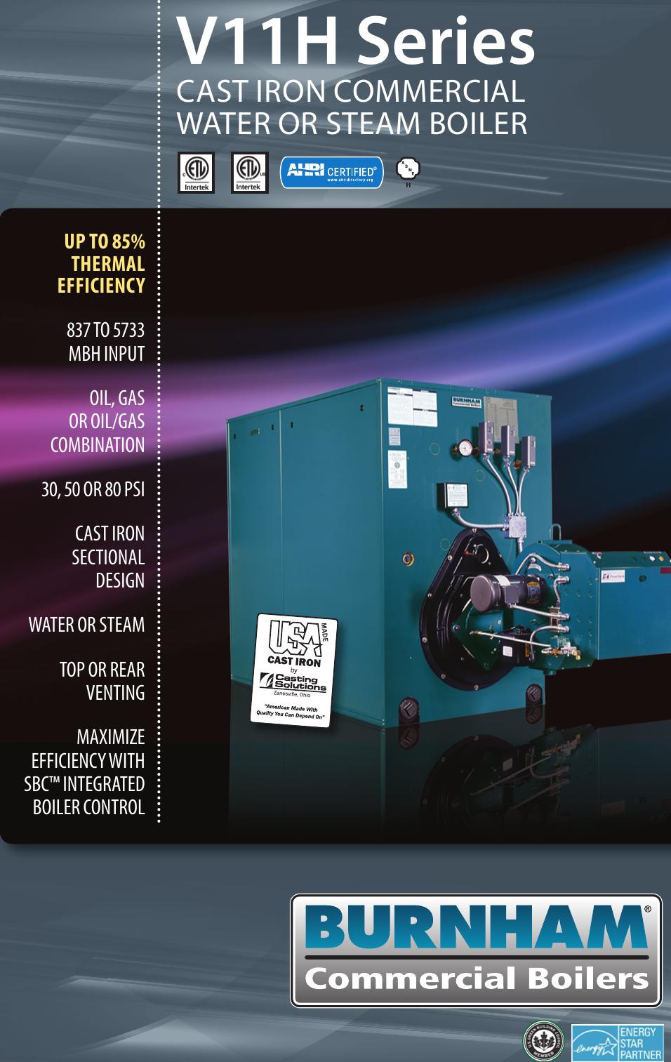 Burnham V11H Boiler Brochure
