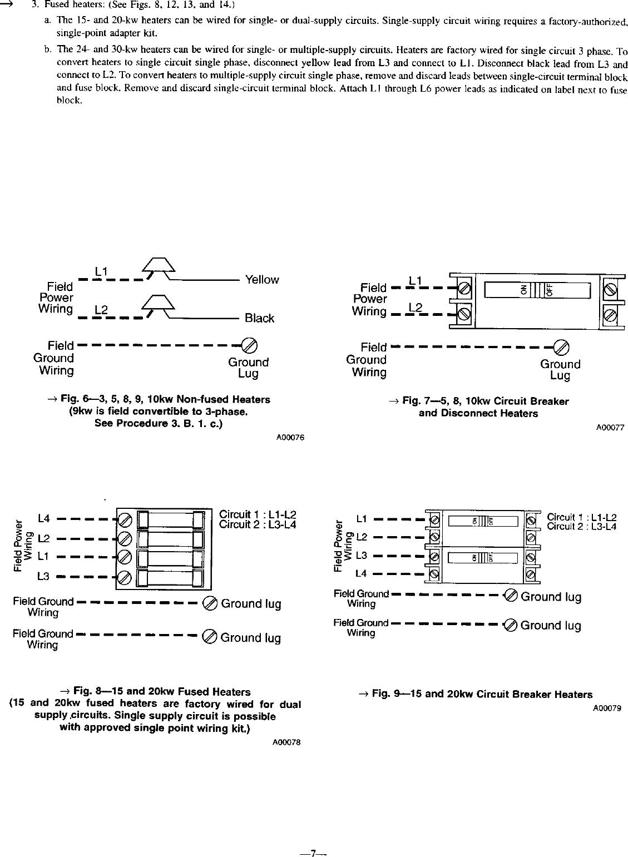 CARRIER Air Handler Auxiliary Heater Kit Manual L0210329