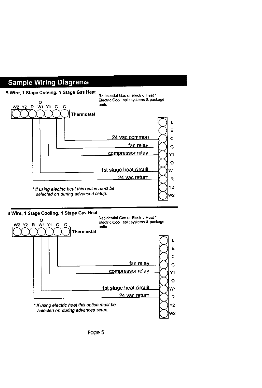Carrier Controls And Hvac Accessories Manual L0210336 5 Wire To 4 Thermostat Wiring Diagram Page 6 Of 12