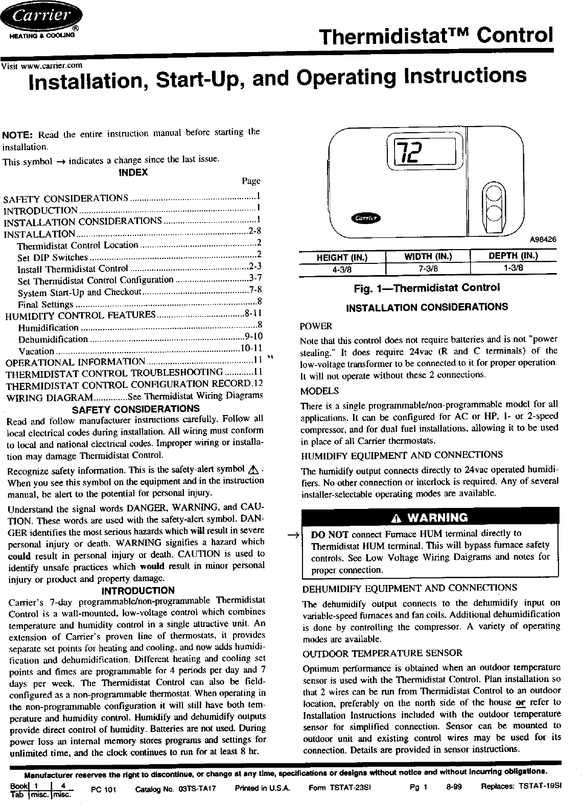 page 1 of 12 - carrier controls and hvac accessories manual l0210356