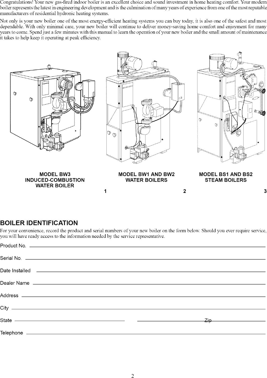 CARRIER Boiler Manual L0408302
