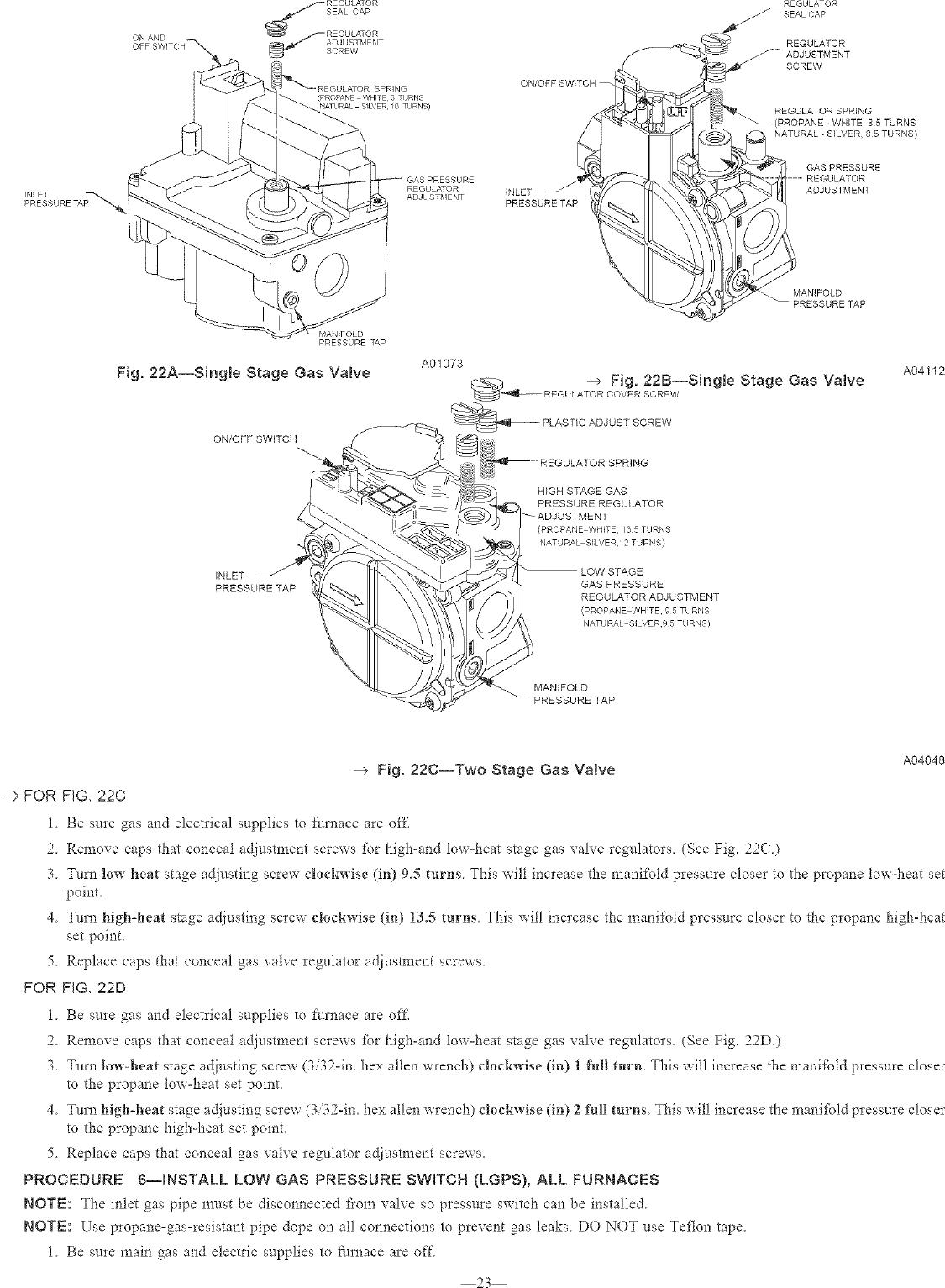 CARRIER Furnace/Heater, Gas Manual L0503421