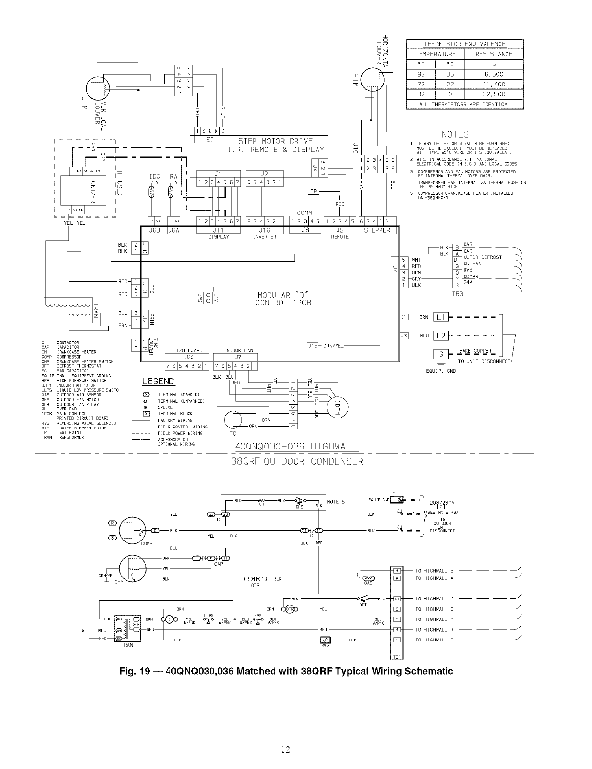 Carrier Air Handler Indoor Blowerevap Manual L0610554 Type 181 Wiring Diagram O