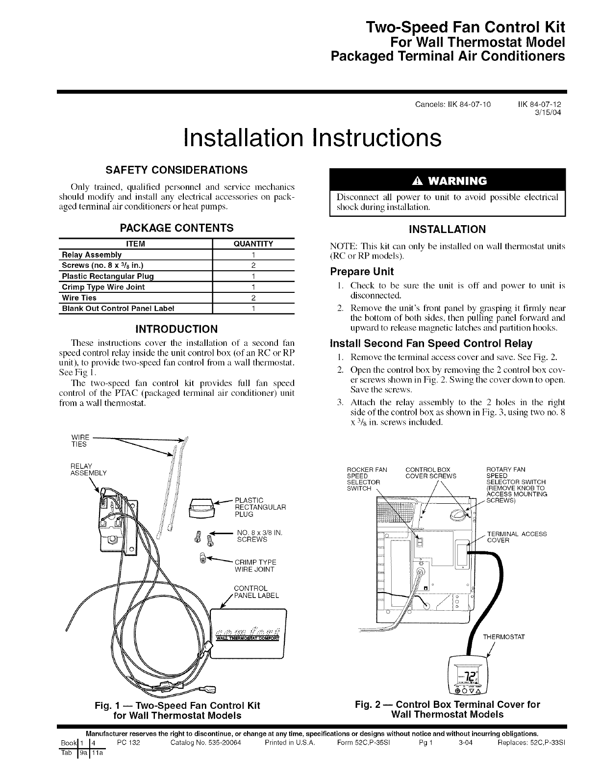 Carrier Package Unitsboth Units Combined Manual L0709351 3 Wire Electric Fan Diagram Pc