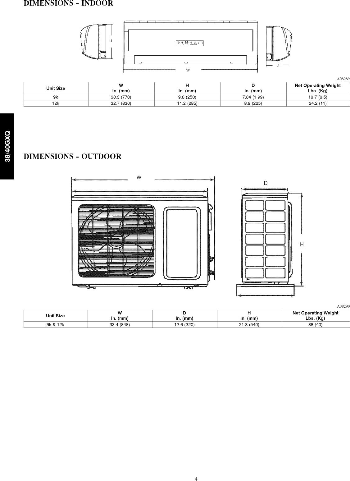 CARRIER Air Handler (indoor Blower&evap) Manual L0907457