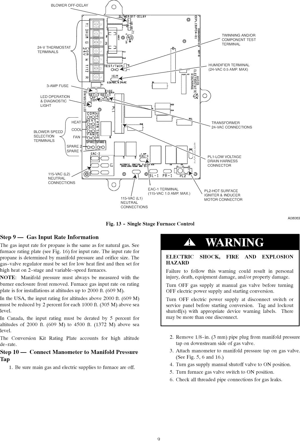 CARRIER Furnace/Heater, Gas Manual L1002541