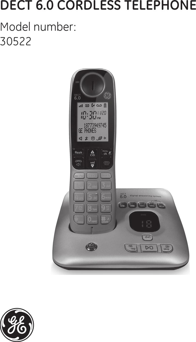 cct 30529 dect phone handset pp user manual 30522 english ug 021511 rh usermanual wiki GE Cordless Phones Product GE Cordless Wall Phones