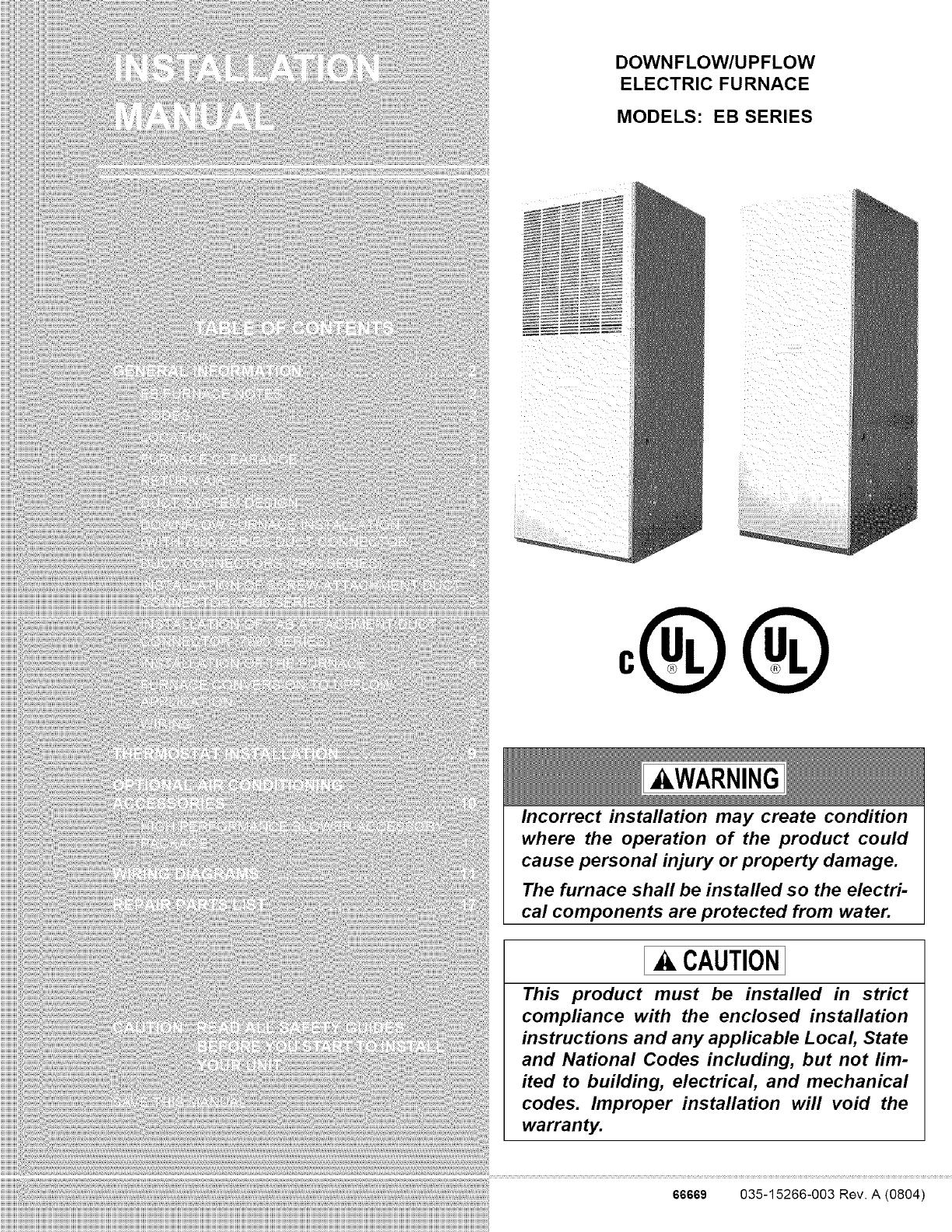 Wiring Diagram Coleman Evcon Eb15b