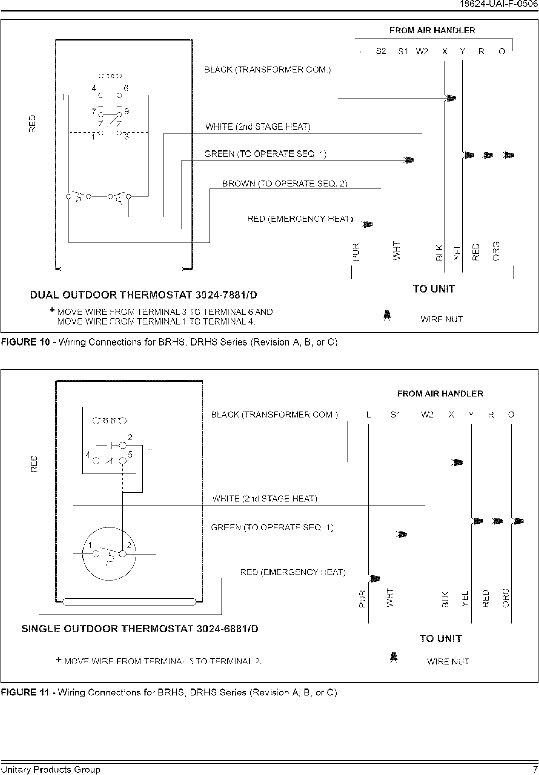 Coleman Evcon Ind Controls And Hvac Accessories Manual L0612129 Outdoor Thermostat Wiring Diagram Page 7 Of 12