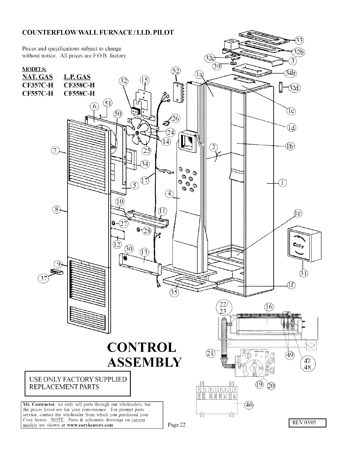 Cozy Furnace Wall Manual L0805259 Iid Wiring Diagram Counterflow Pilot