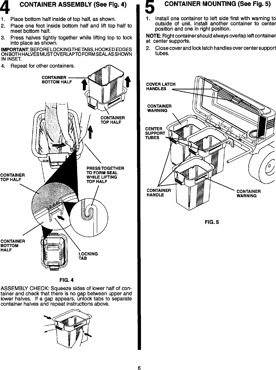 CRAFTSMAN Grass Catcher Manual L0410110