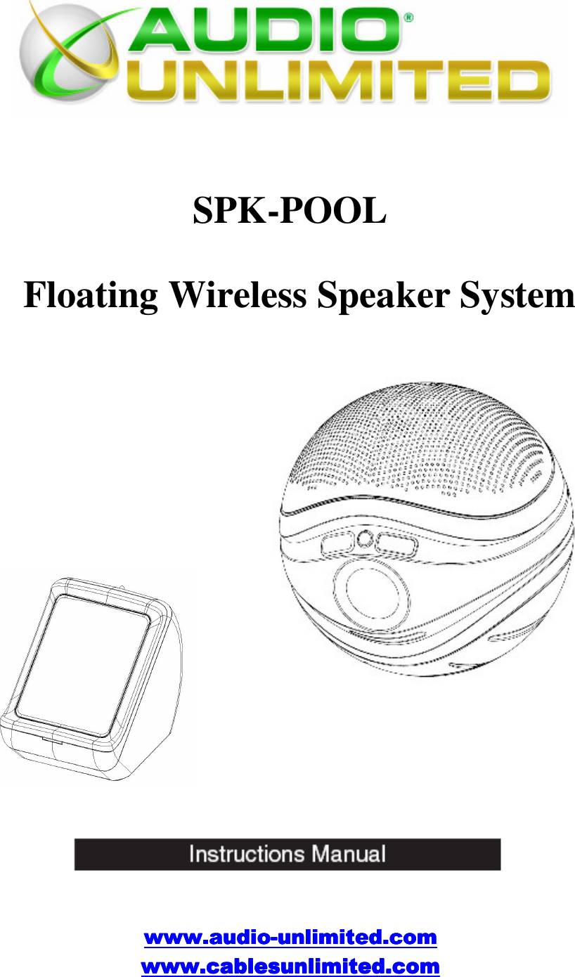 cables unlimited audio spk pool users manual user rh usermanual wiki Cables Unlimited Driver Cable Marvel Unlimited