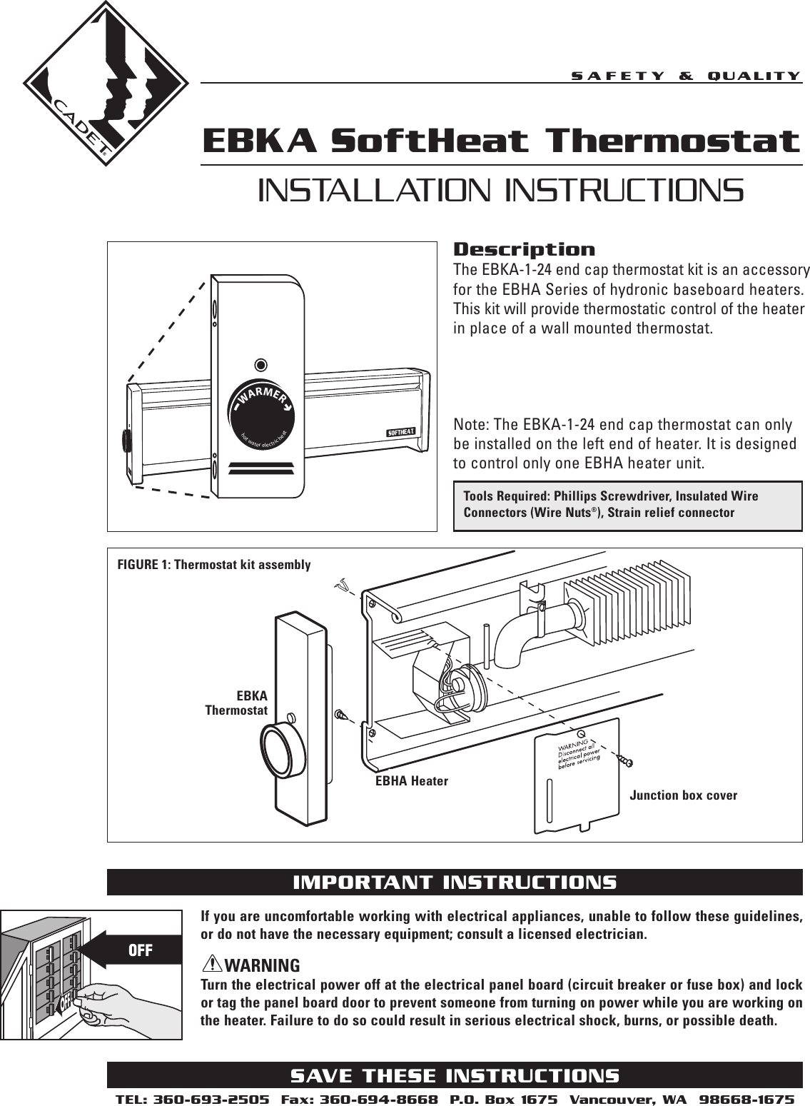 Cadet Ebka 1 24 Users Manual