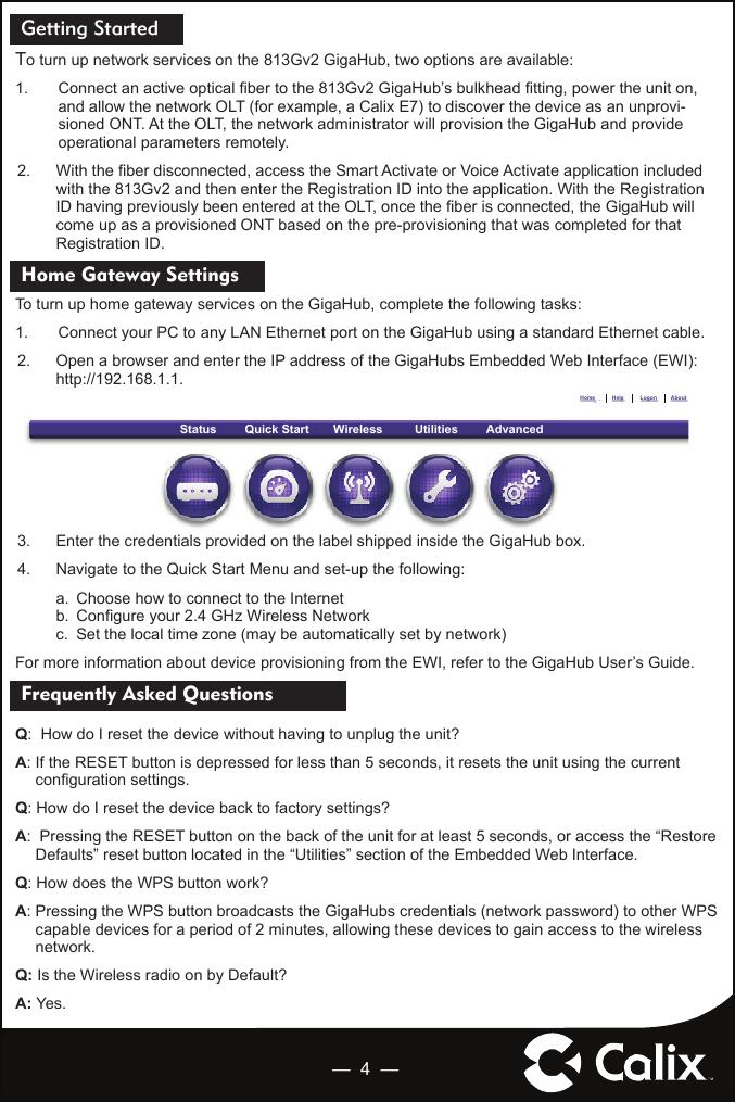 Calix E7 User Guide