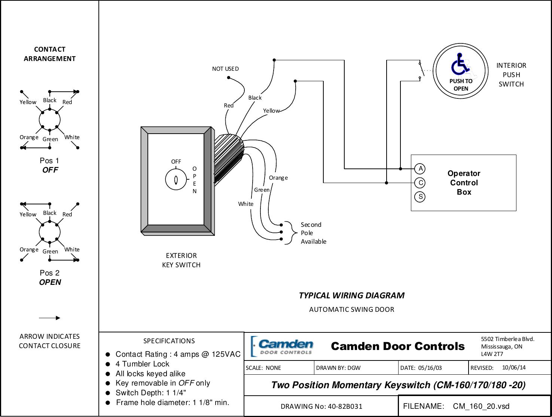 Camden Two Position Momentary Keyswitch Cm 160 170 180 20 Wiring Omen 8 Diagrams Diagram Rev2