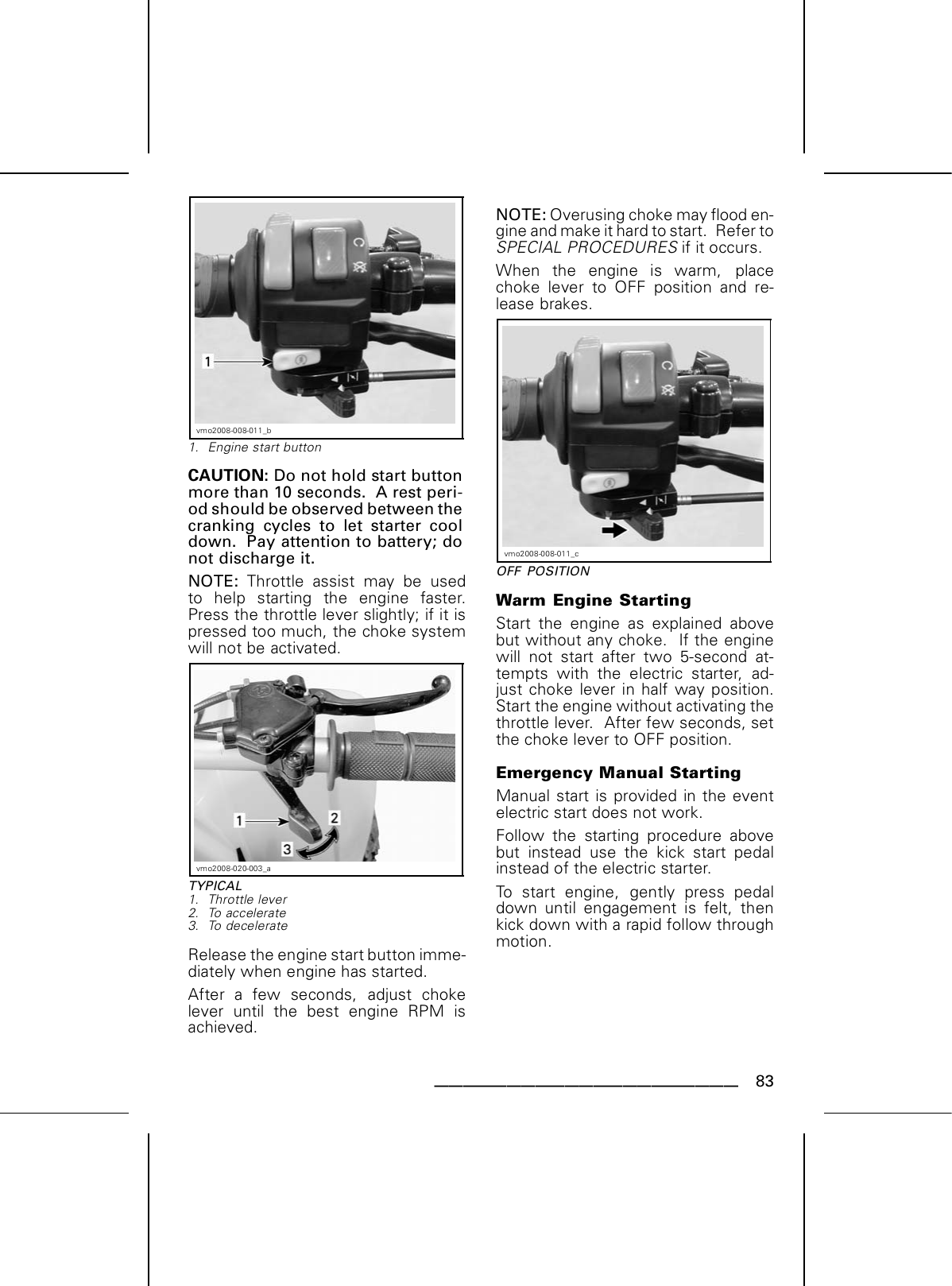 Can Am Ds 70 Users Manual Print Preview C