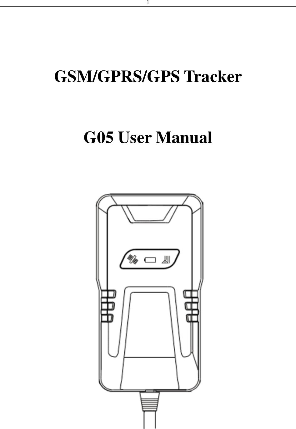 Gt005 Gps Tracker User Manual