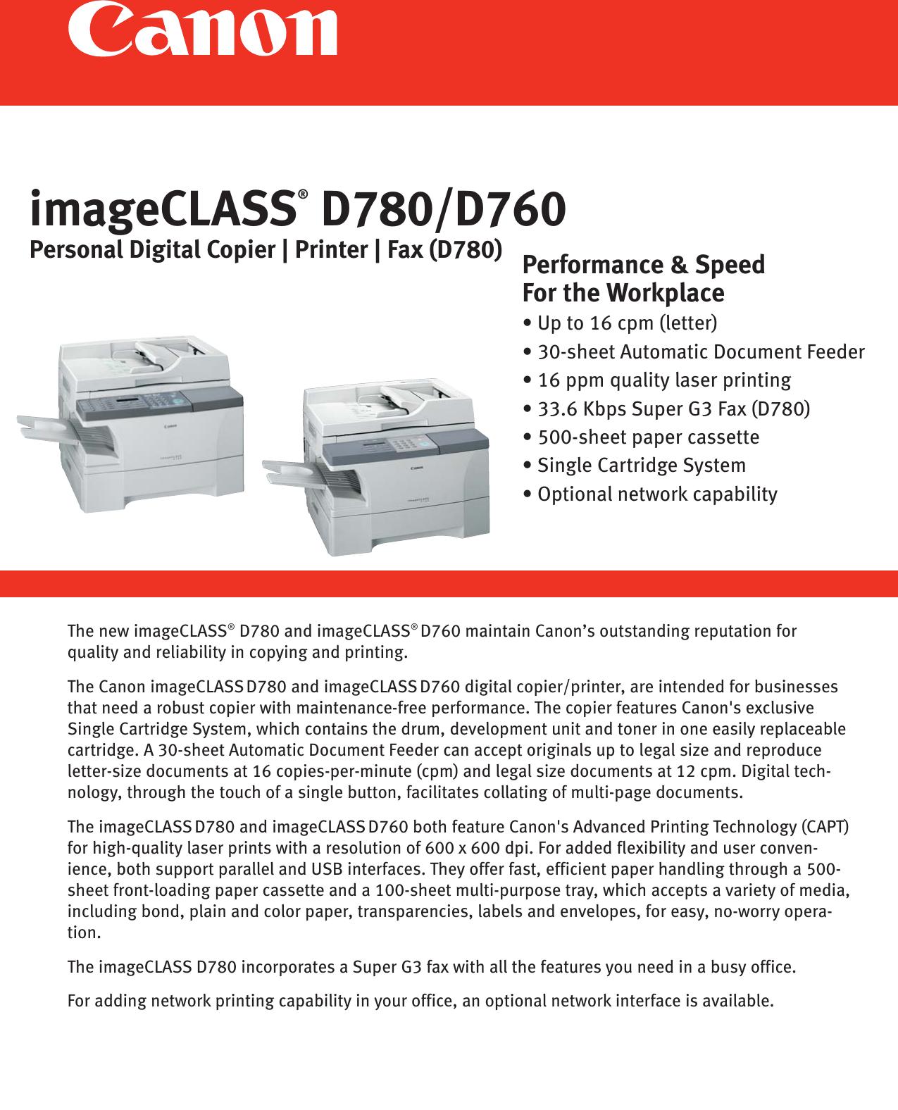 IMAGECLASS D780 DESCARGAR DRIVER