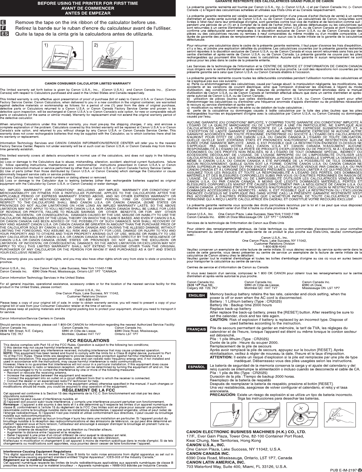 Canon Mp11dx Owners Manual P170 Dh 4