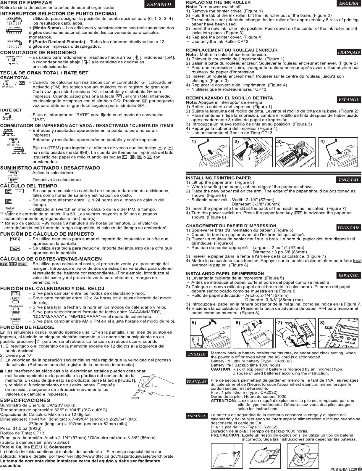 Canon P170 Dh Instruction Manual P23 Dhv 4