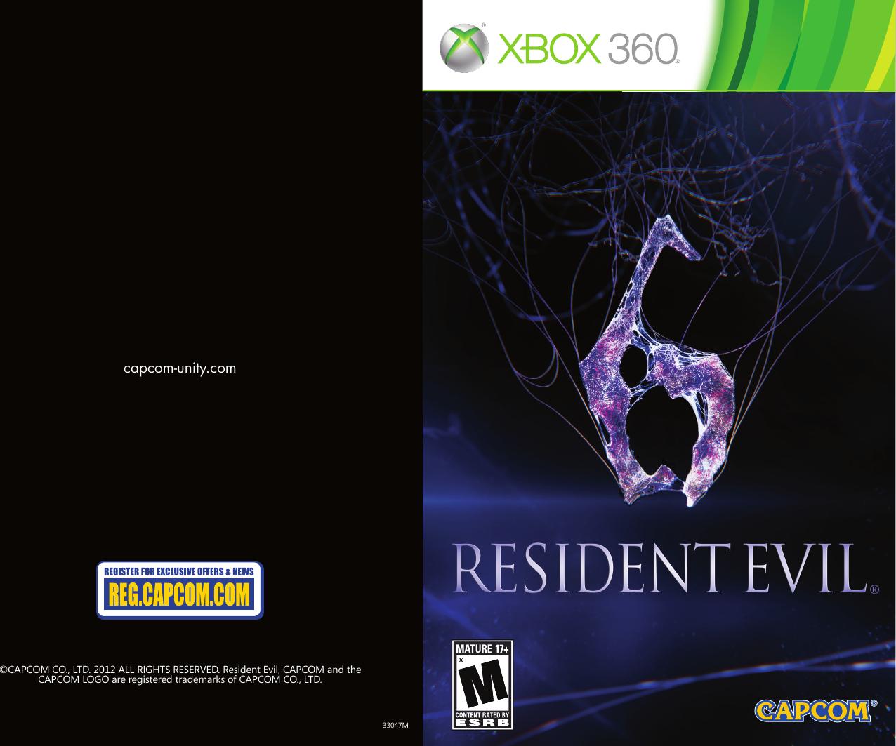 Capcom Resident Evil 6 13388330478 Users Manual
