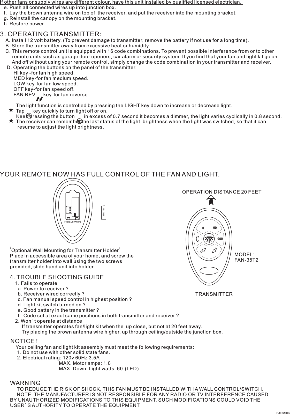 Pass And Seymour Brown Dual 3 Manual Guide