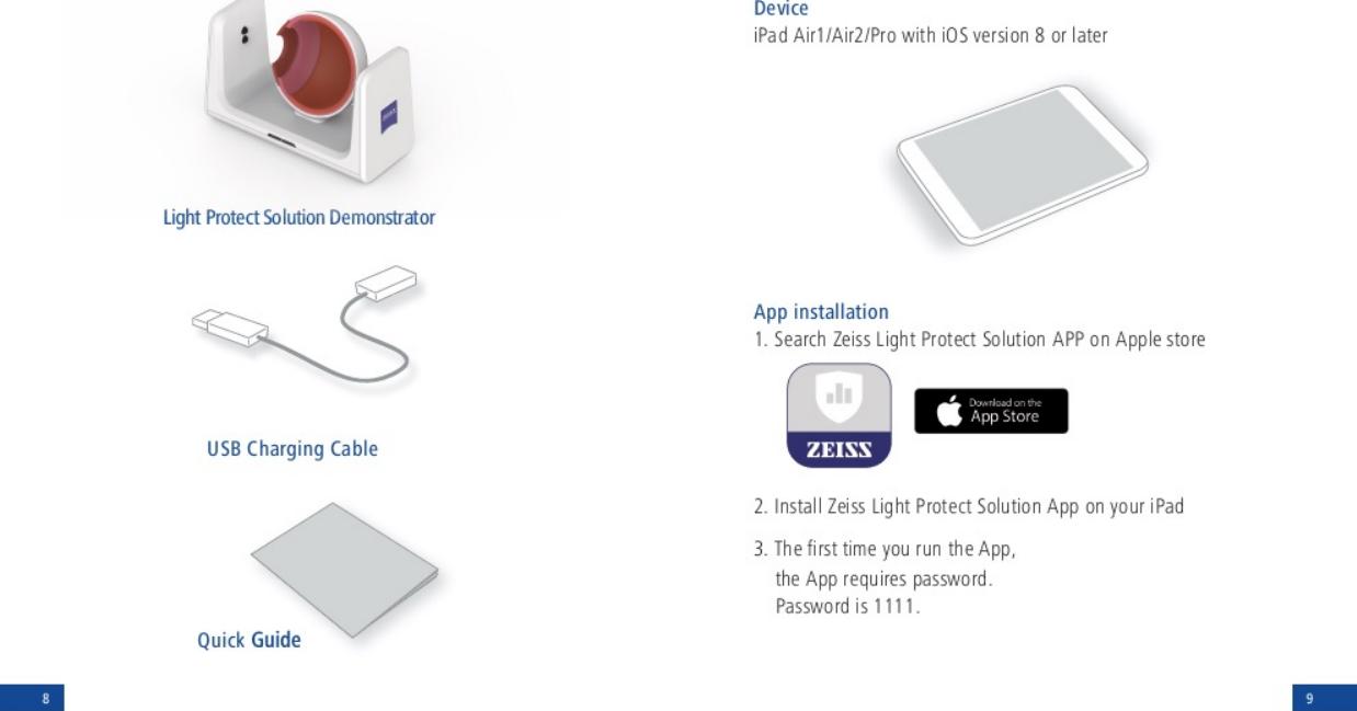 Carl Zeiss Vision BL134VIT86 UV/Blue light demonstration