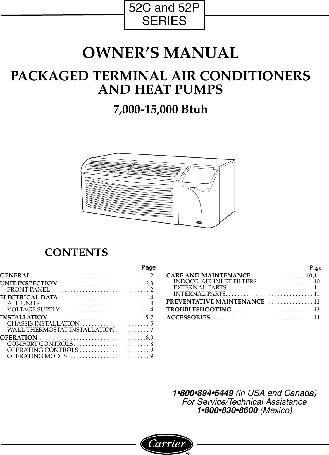 Carrier Access 52p Users Manual 52c P 1so Thermostat Wiring For Ac Unit