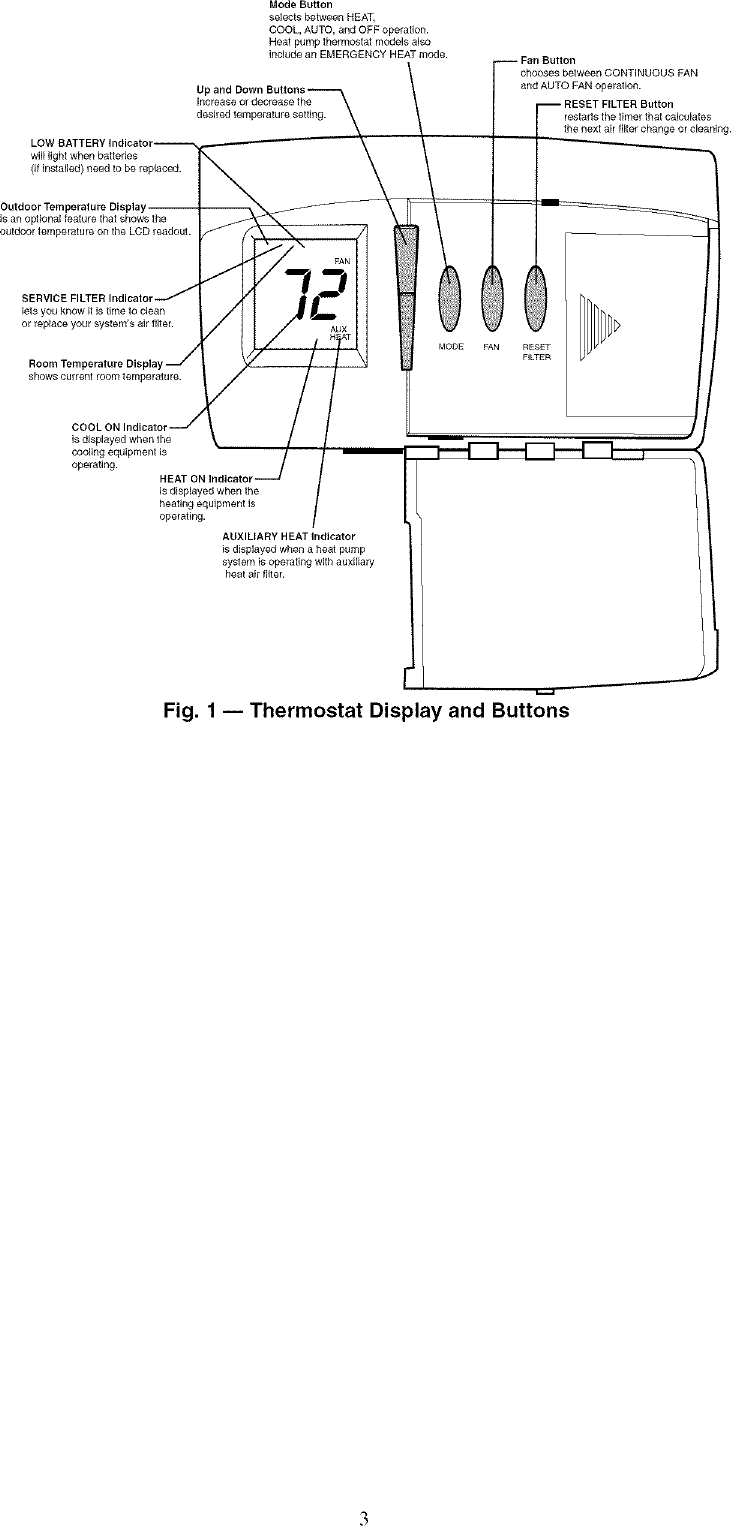 Carrier P274 0100 C Users Manual Totaline Thermostat Wiring Diagram Page 3 Of 4