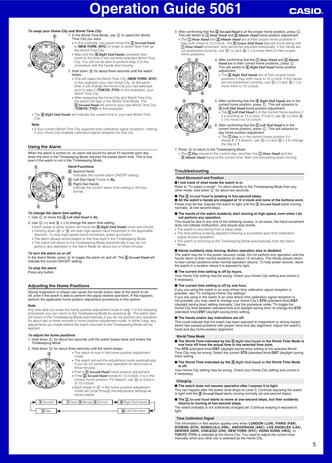 casio edifice 5061 user manual
