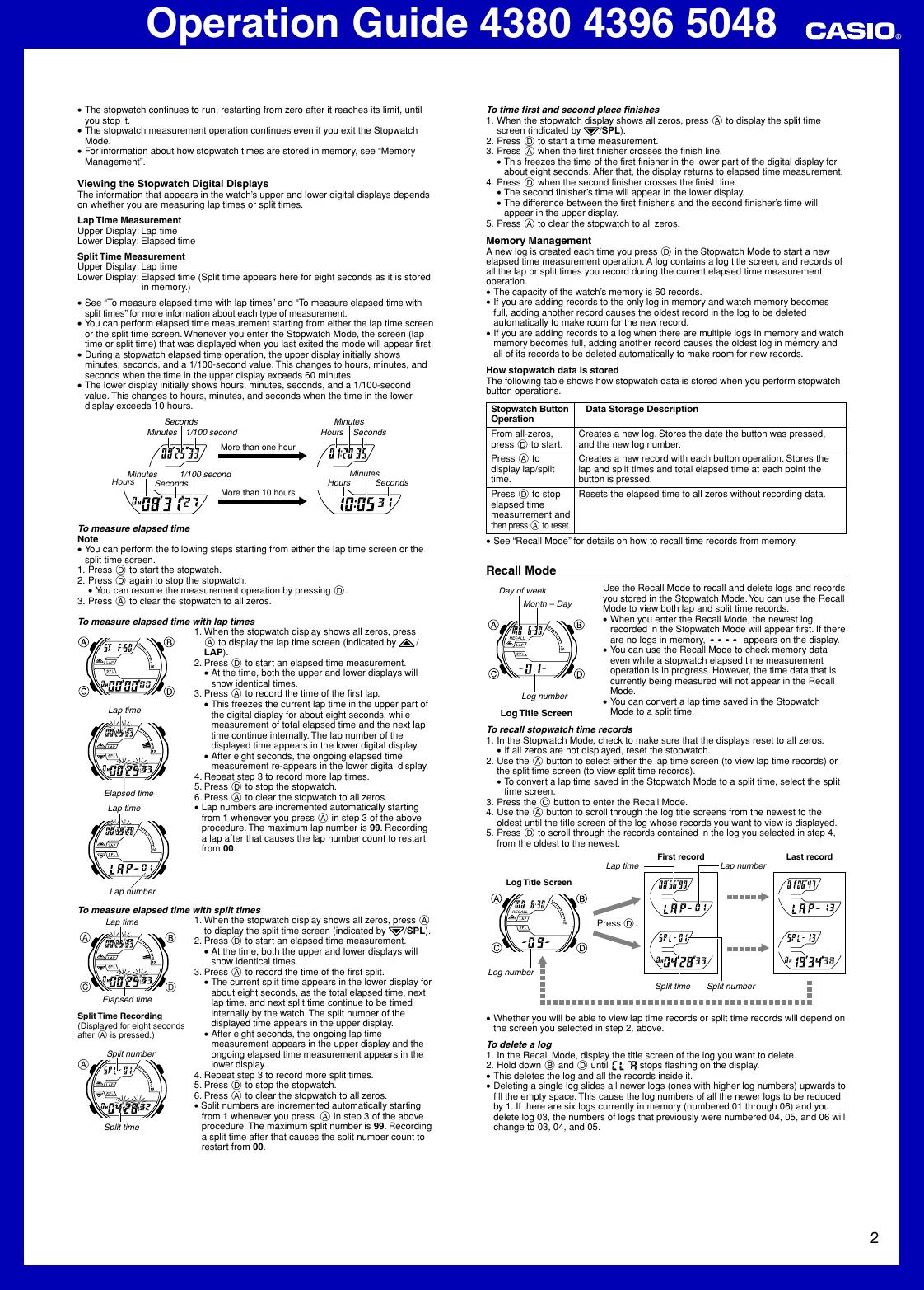 casio aq164w 1av operation manual qw 4380 4396 5048 rh usermanual wiki 4396 Indian Trail Memphis TN casio 4396 user manual