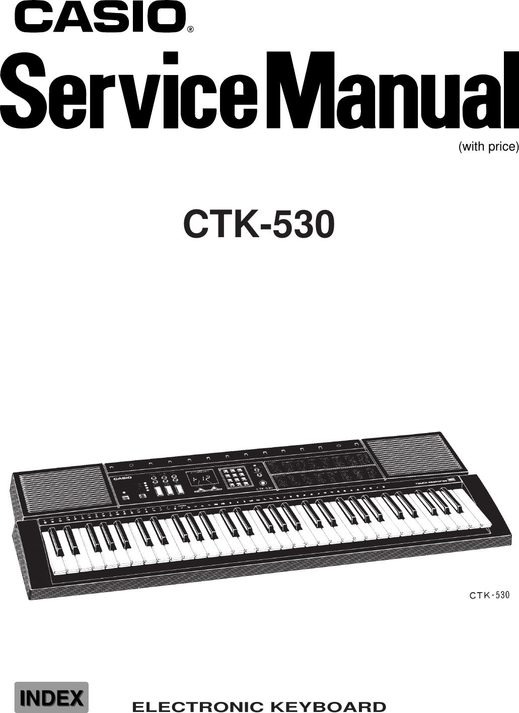 Casio Electronic Keyboard Ctk 530 Users Manual S  M