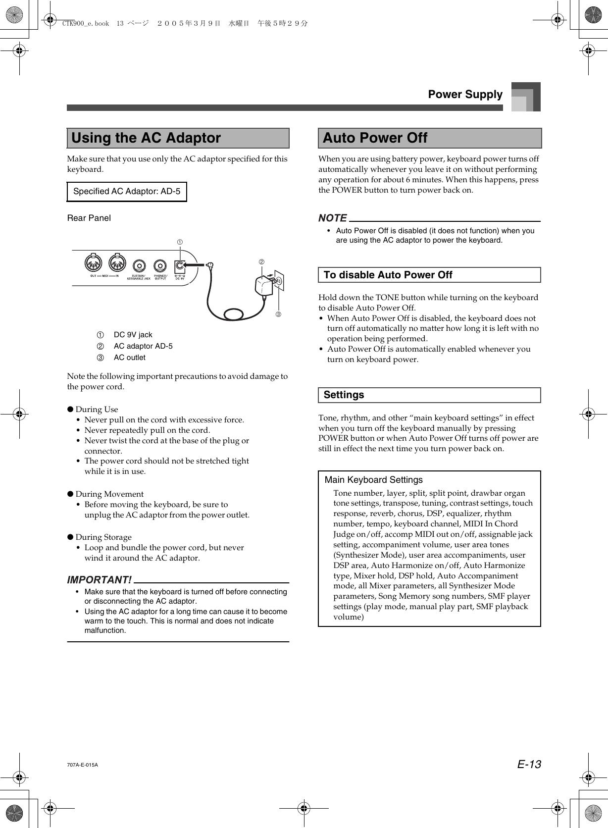 Casio Electronic Keyboard Ctk 900 Users Manual CTK900_E