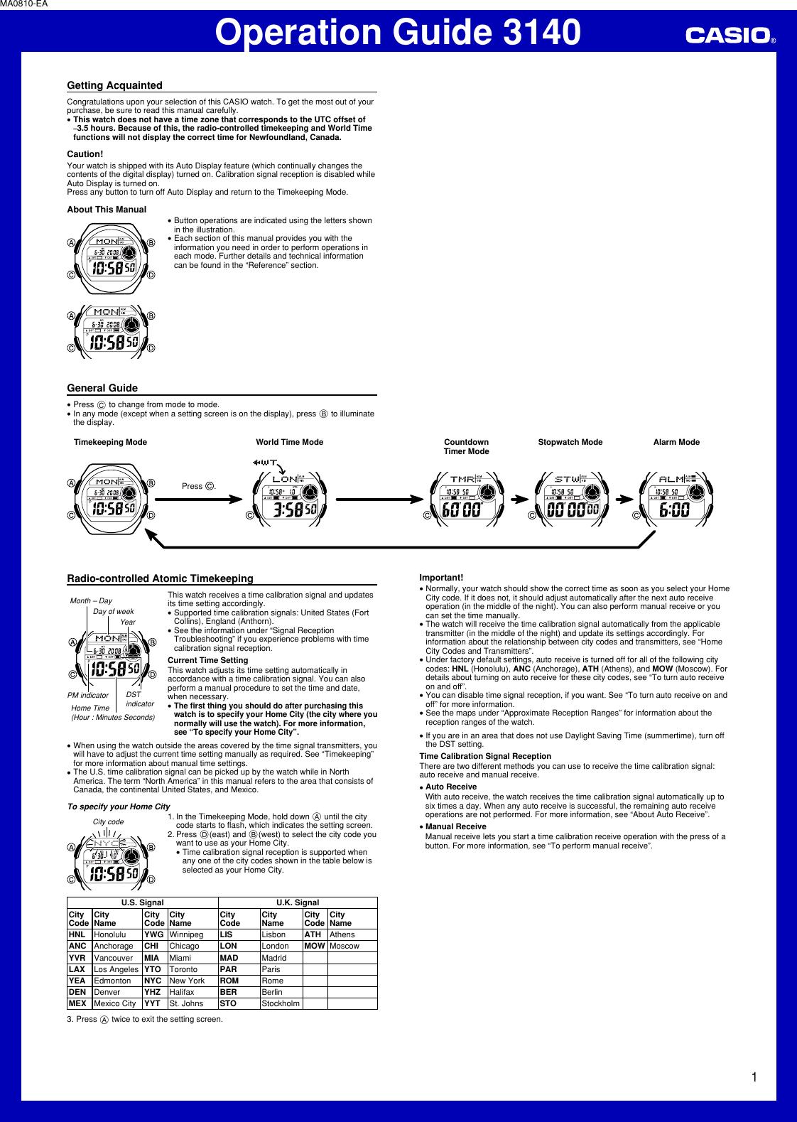 casio wave ceptor wv200a 1av wrist watch users manual qw 3140 rh usermanual wiki wave ceptor illuminator manual 3140 casio wave ceptor 3140 user manual