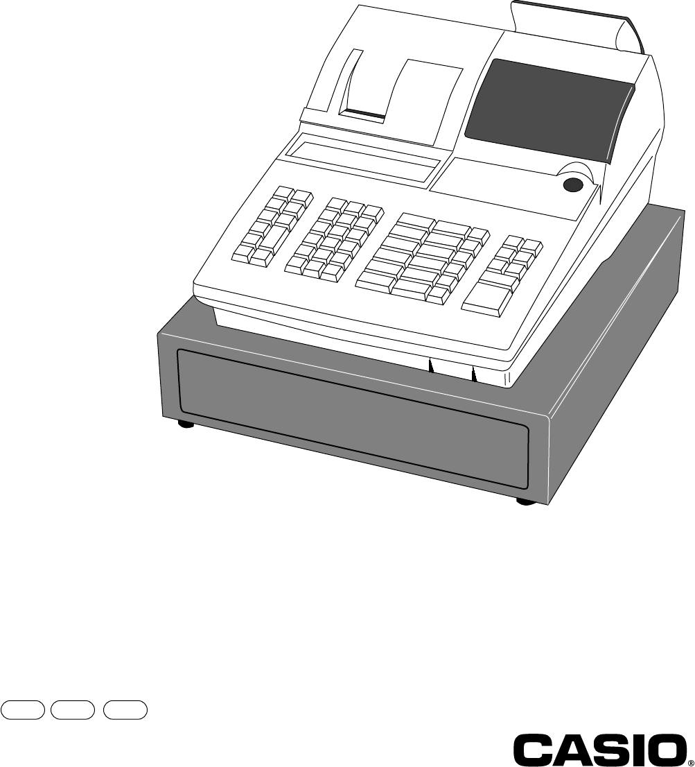 Casio Electronic Cash Register Ce 6100 Users Manual User's Instruction