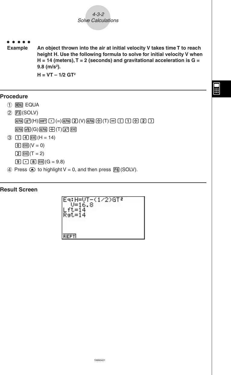 Casio ZX 945 Ch 04E Chapter 4 Equation Calculations Algebra