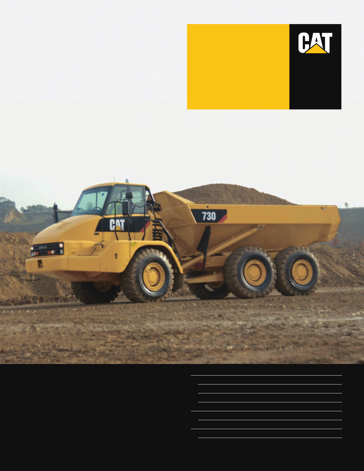 Cat 730 Users Manual Specalog For Articulated Truck Aehq5647 03