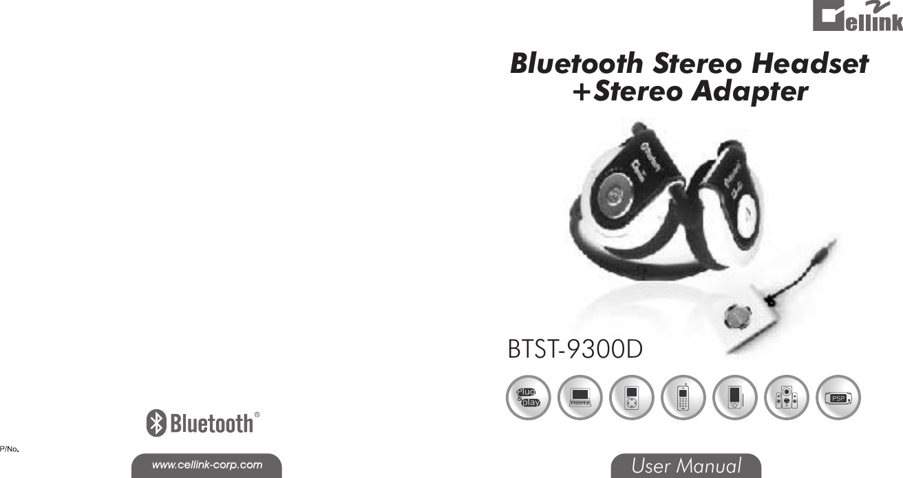 Cellink 4710874203754 Bluetooth Stereo Headset User Manual
