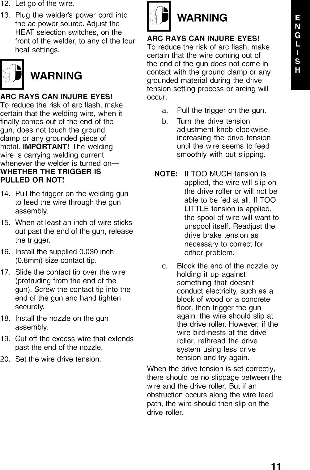 Century 117 071 User Manual MIG WELDER 1999 Manuals And