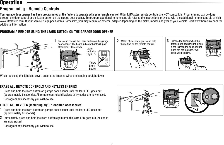 Chamberlain Group The 7675 Garage Door Opener W 900mhz Fhss Transceiver User Manual Exhibit D Users Manual Per 2 1033 B3