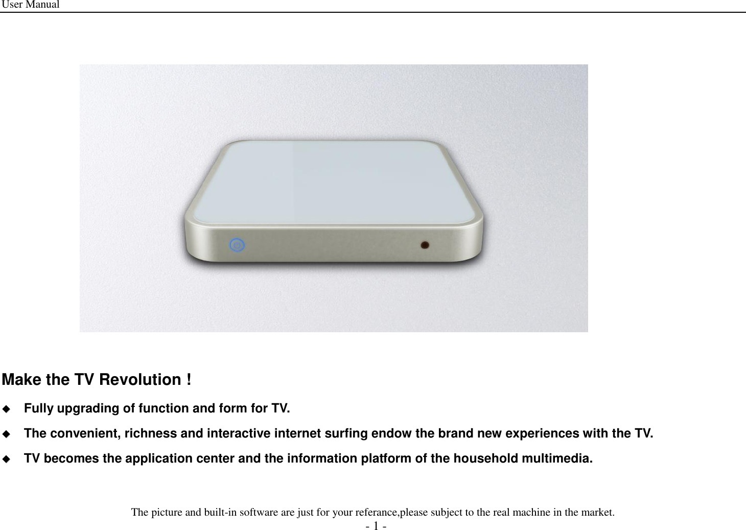 Champion Asia Digital Technology EBOX IPTV BOX User Manual