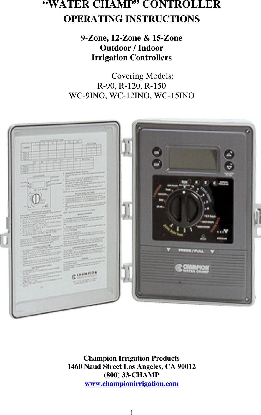 Champion Manufacturing R 90 Users Manual Wc_manualUserManual.wiki