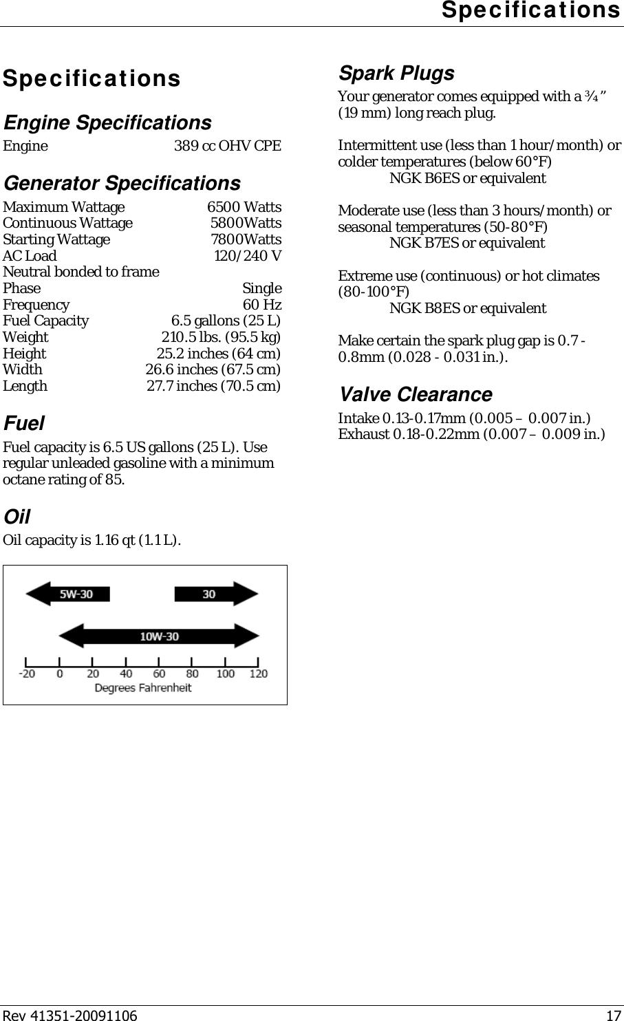 Champion Power Equipment 41351 Users Manual