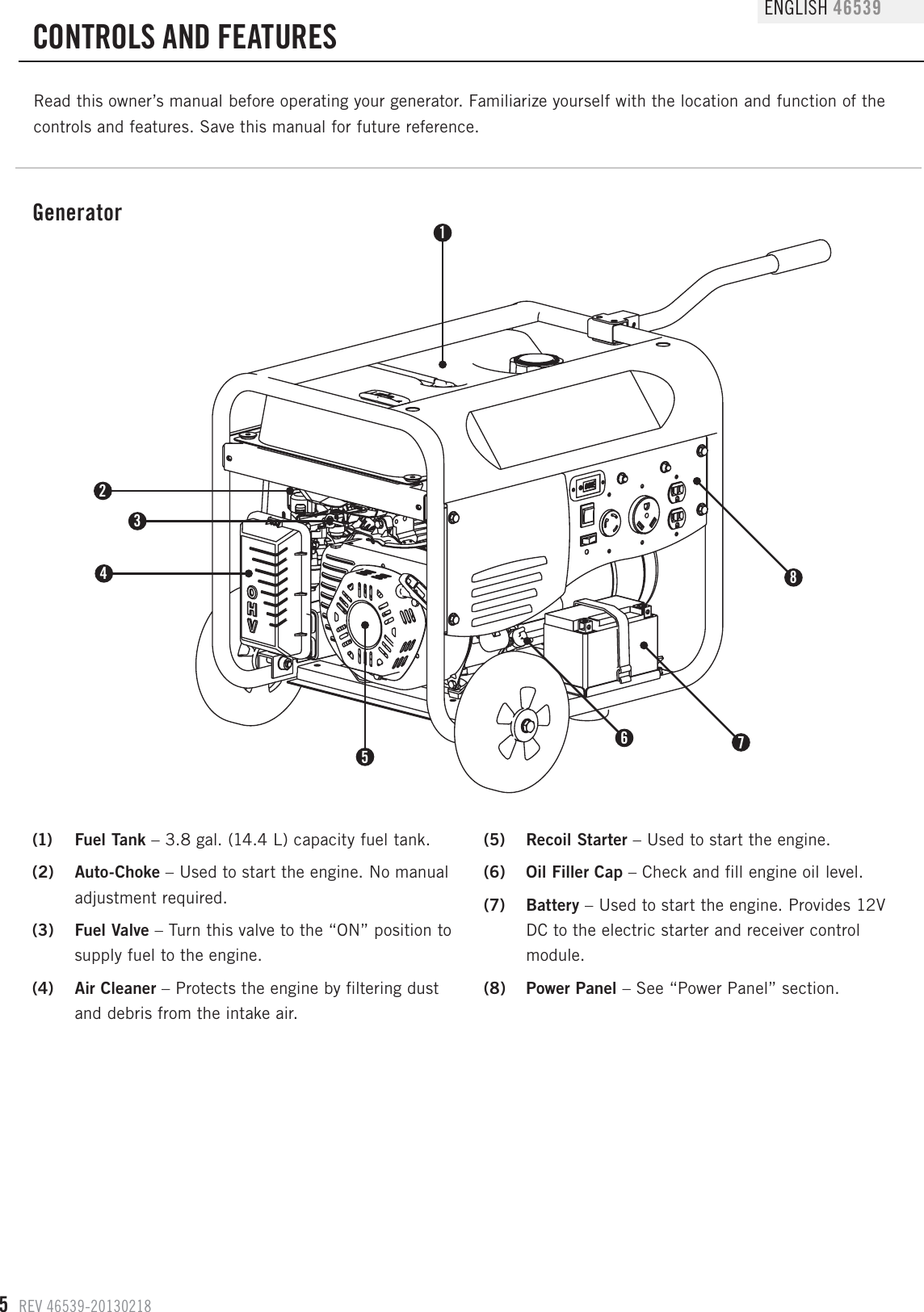 Champion Power Equipment 46539 Owners Manual 46539_manual