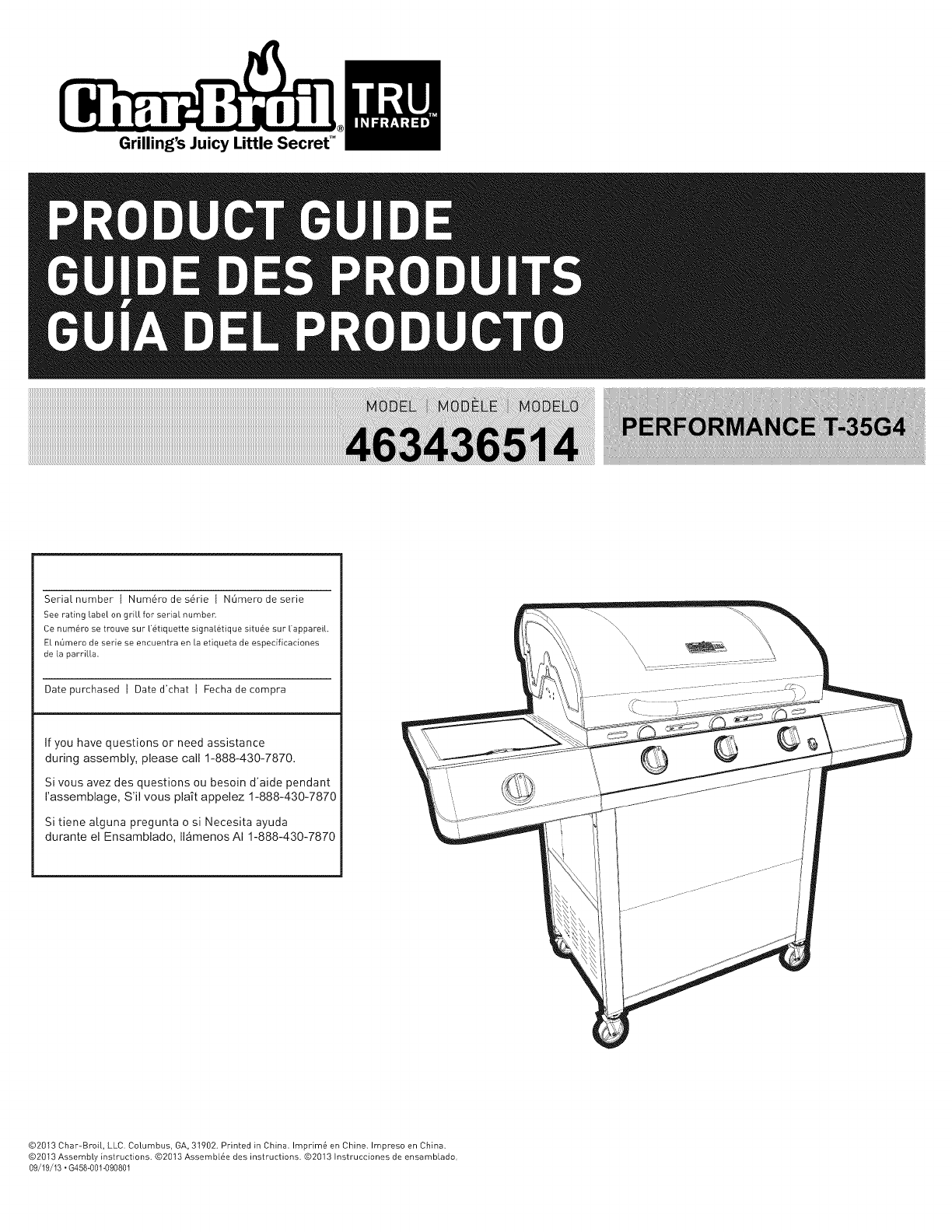 Char Broil 463436514 User Manual Gas Grill Manuals And Guides 1403302l