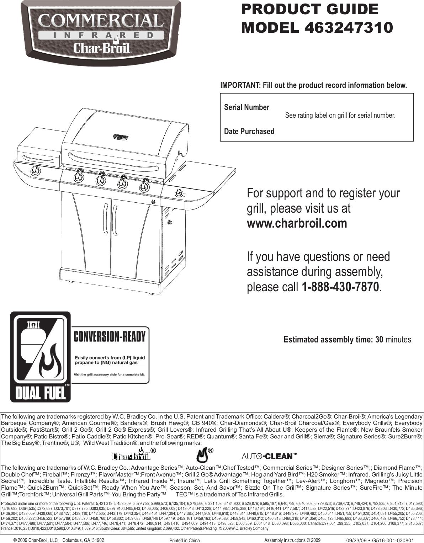 Char Broil 463247310 Users Manual 463247310 English