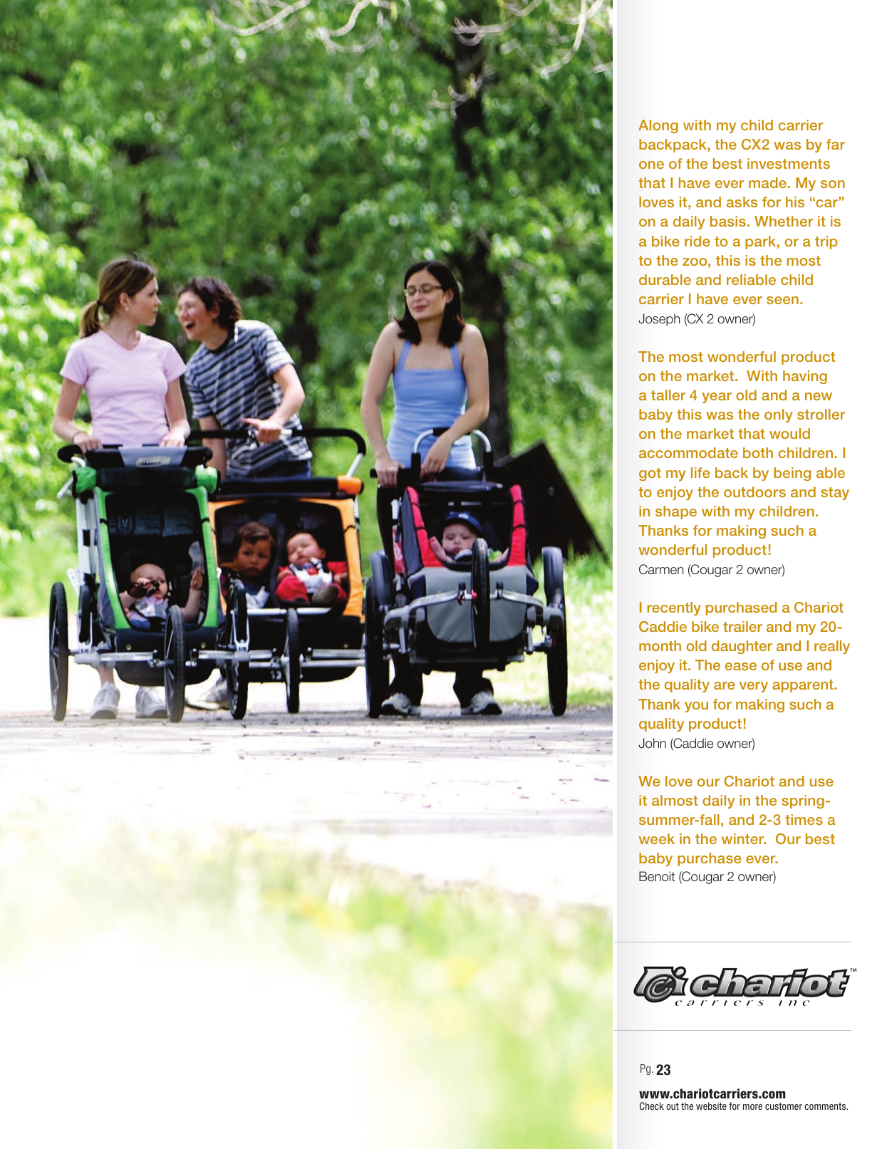 Chariot Carriers 2008 Users Manual