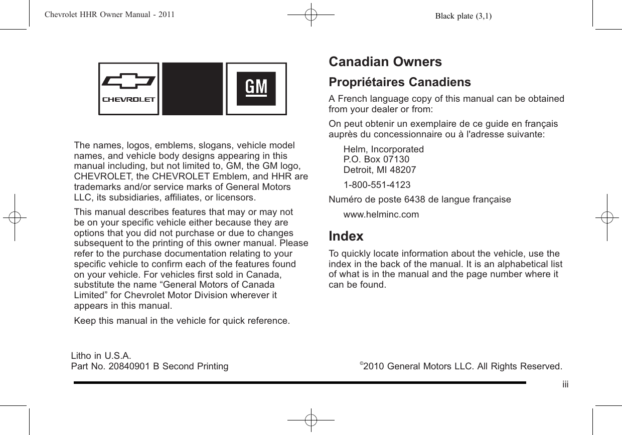 hhr owners manual 2010 page 2 3 Array - chevy hhr owner manual rh chevy hhr  owner manual logoutev de