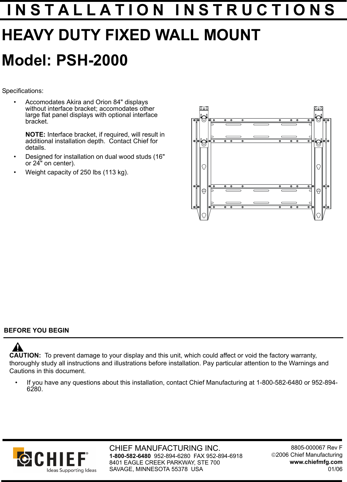 chief manufacturing psh 2000 users manual psh2000 installation rh usermanual wiki New Plane Manufacturing Manufacturing Manual Labor